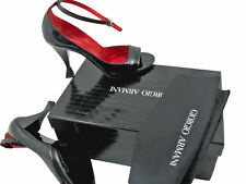 NEW $795 Giorgio Armani Shoes (Heels)!  US 8.5 e 38.5   Black Patent Leather