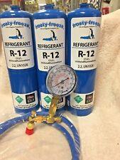 R12, Refrigerant 12, Virgin R-12, 3 Cans Check & Charge It Gauge, 36 Hose Kit C