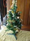 """Vintage 1980's Christmas Tree 30""""  Plastic Stand with Decorations"""