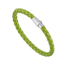 Unisex Magnetic Bracelet Leather Buckle Bangle Wristband Rhinestone Fashion Green