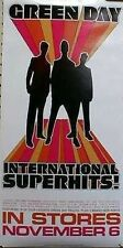 GREEN DAY 2001 international superhits pre promo poster Flawless New old stock