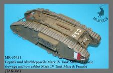 1/35th MR Models British Mark IV Tank Male & Female stowage and tow cables