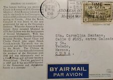 A) 1946, CANADA, GREAT BEAR LAKE, FROM MONTREAL TO HAVANNA-CARIBBEAN, AIRMAIL, W