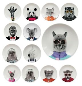 Dining Plates - Funny Animals Mustard Wild Dining Tableware and Water Bottles