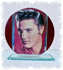 Elvis Presley 'In the Red' Cut Glass Round Plaque Collectors Limited Edition  #1