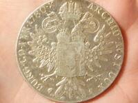1780 Maria Theresa 1 Thaler Austria GENUINE Period Coin 28 grams #Q16