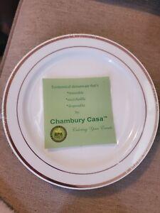 Rose Gold Trimmed Disposable Salad/dessert Plates 500 quantity