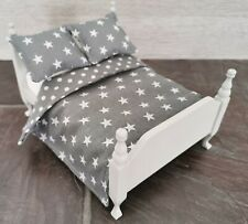 Handmade-2 in 1 Dolls House Bedding Set -1/12 Scale/  Double Bed