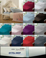 Extra Deep Fitted Sheets 40cm 16in Percale Bedding single Double King Super King