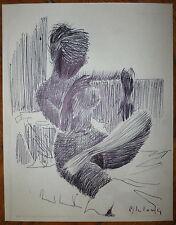 Pierre Lelong encre sur papier signée femme erotic art peintres témoins
