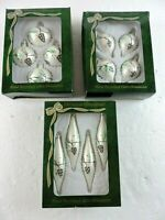 Lot of 3 Boxes Bradford Hand Decorated Glass Christmas Ornaments Trimmeries