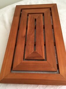 """Bath and Spa Wood Floor Mat,1/2"""" solid wood thick raised from floor with nonslip"""