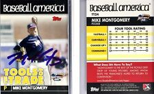 Mike Montgomery Signed 2010 Topps #TT24 Card Northwest Arkansas Natural Auto