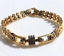 ANCIEN BRACELET EN OR MASSIF HOMME FEMME 18K cts carats 750 MAILLE GOUT CARTIER