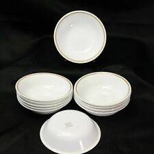"""Corelle Indian Summer Berry Bowls Brown Rim 5.375"""" Lot of 12"""