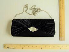 McClintock BLACK Evening Cluth Hand Bag PROM HandBag Purse 2 Different Straps