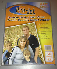 50 SHEETS PROJET DOUBLE SIDED MATT PHOTO PAPER WITH GRAIN A4 220gsm
