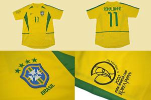 Brazil 2002 jersey shirt world cup playera chamarra ronaldinho mundial 2002