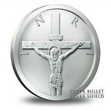 2015 Silver Shield Crucifixion Shekel 1/2 oz Silver BU Round Bullion Jesus Coin