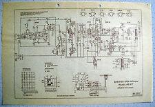 ITT/Graetz musica 4r/217 esquema eléctrico en papel transparente
