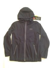 Girls Youth Under Armour Storm Full Zip Jacket/Hoodie Black Med NWT