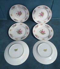 """Vintage Puritan China """"Melody"""" Floral Bread/Butter Plates Japan 6 1/4''"""