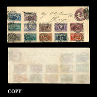 USA 1c-$1.00 Columbian  stamp tied by neat strike of  World's Fair Sta. COPY