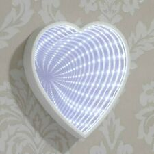 White LED Heart Infinity Mirror Vanity Make Up Cosmetic Beauty Mirror Light Up