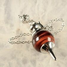 g1782 Red tiger eye pendulum pendant