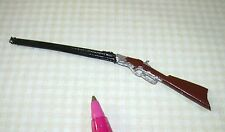 Miniature Cast Metal Hand-Painted Winchester 73 Rifle Gun: DOLLHOUSE 1:12