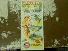 VINTAGE MAP - 1964 - Florida Tourguida Vacation Map