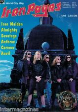 Iron Pages Nr.23 - 4/1993,Morgoth,Iron Maiden,Savatage,Anthrax,Anvil,Coroner,