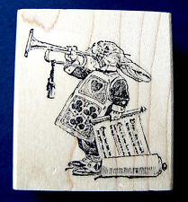 """P13 Alice in Wonderland """"rabbit"""" rubber stamp small WM 1.5"""""""