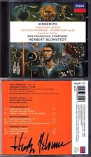BLOMSTEDT Signed HINDEMITH Nobilissima Visione Konzertmusik Viola Concerto CD