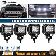 4X 4''inch Work Cube Side Tri-Row LED Light Bar Spot Driving Fog Pod Bumper 144W