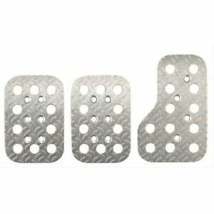 Sparco 03779AN Pedal Pads Race Rectangle Aluminum Natural Diamond Plate Set NEW