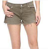 New Hudson Jeans  denim shorts Kenzie Cut Off Jean Denim olive Green size 23