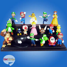 "A Super Mario Bros 1.5~2.5"" Lot 18pcs Cute Action Figure Doll Toy Collection New"