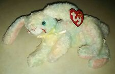 TY Beanie Baby ~ COTTONBALL Easter Bunny Rabbit ~ NWT Retired with PE Pellets