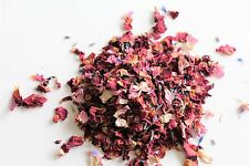 Natural Dried Petal Biodegradable Wedding Confetti Pinks Reds Blues 1 Litre