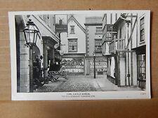 Postcard York Castle museum Kirkgate cobbled street display RP unposted  .XC3