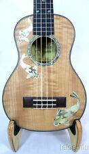 Alulu Solid curl maple concert Ukulele,mop inlay Carps pattern,UPC125