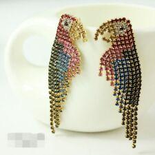 Boucles d`Oreilles Clous Perroquet  Cristal Multicolore Super Joli Cadeau XX 1
