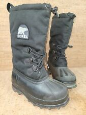 SOREL Glacier THERMOPLUS Insulated Snow Boots size 8 Mens Black