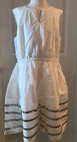 J.CREW CREWCUTS GIRLS' EMBROIDERED SUMMER DRESS SIZE 12 WHITE F2346