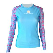 Katana Womens Long Sleeve Butterfly Print Compression Top