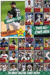 Topps Bunt Digital Giolito Award + Set (1+24) 1985 All-Stars Base 2020 Digital