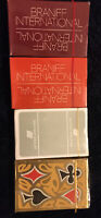 New- 4-Decks Vintage Airline  Playing Cards - 3-Braniff International, 1 United