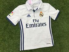 NEW Boys ADIDAS REAL MADRID FOOTBALL SHIRT No.11 BALE (age7-8) *BNWOT*