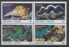 MARSHALL ISLANDS 1986 WWF MARINE LIFE SET (4) UHM CRAB CLAM (ID:217/D19270)